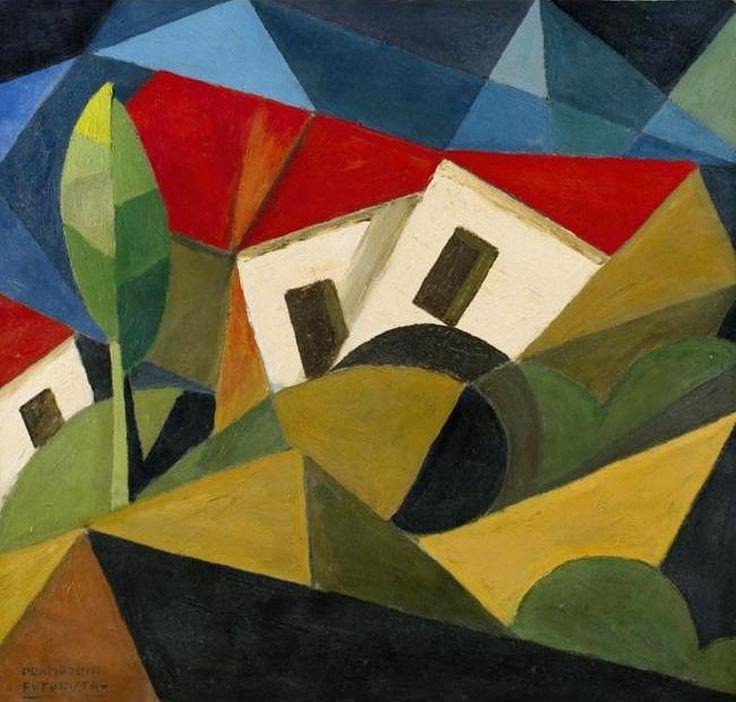 ymutate: Enrico Prampolini, (1894-1956): 1918 Landscape (Sotheby's Milan, 2005) Oil on cardboard; 36 x 37.5 cm. found at RasMarley, posted by ymutate
