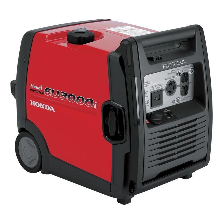best quiet portable honda 3000 watt generator - honda eu3000i handi