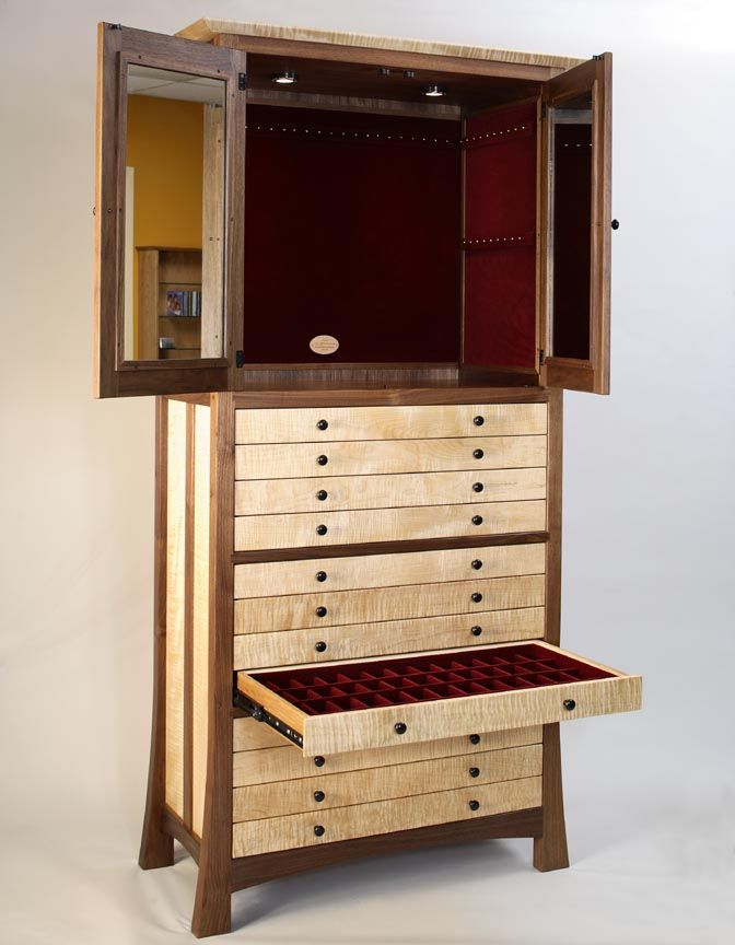 Wooden jewelry cabinet plans woodworking projects plans for Wardrobe cabinet design woodworking plans