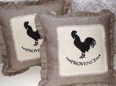 Подушки в стиле прованс ручной работы.