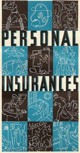 1935 personal insurance brochure. Clement Dane Studios, London
