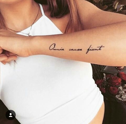 omnia causa fiunt / everything happens for a reason - latin