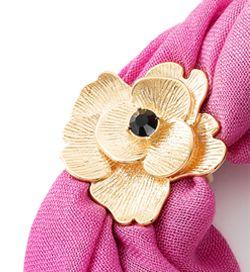 NICE regalos hermosos- Porta mascadas en forma de flor. Joyeria con 4 baños en oro de 18 kilates.