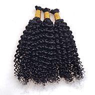 3pcs/lot Mongolian Kinky Curly Human Braiding Hair Bulk Crochet Braid Hair Extensions Afro Kinky Curly Bulk Hair – USD $ 130.00