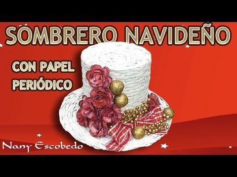 SOMBRERO NAVIDEÑO CON PAPEL PERIÓDICO / Christmas hat with newspaper - YouTube
