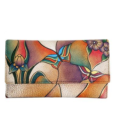 Look what I found on #zulily! Butterfly Glass Painting Hand-Painted Leather Wallet #zulilyfinds