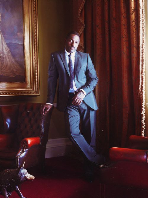 Idris Elba - rumored awhile ago to be considered for a future role of James Bond. I'm cool with that, the guy is awesome!