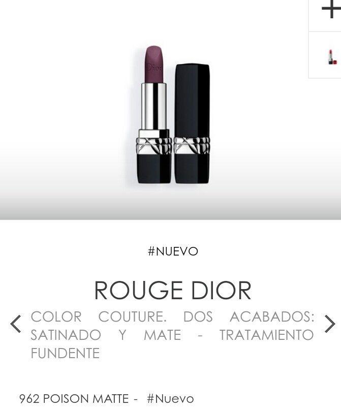 Nuevo labial Dior Rouge Dior Matte 962 Poison Matte Maquillaje