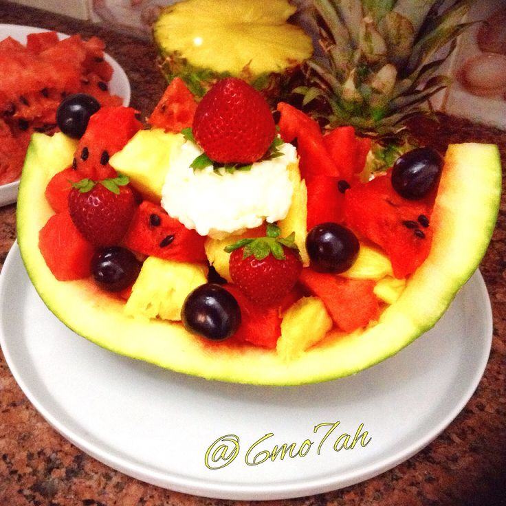 #fruits #cherrys #strawberry #strawberrys #watermelon #pineapple #greekyogurt