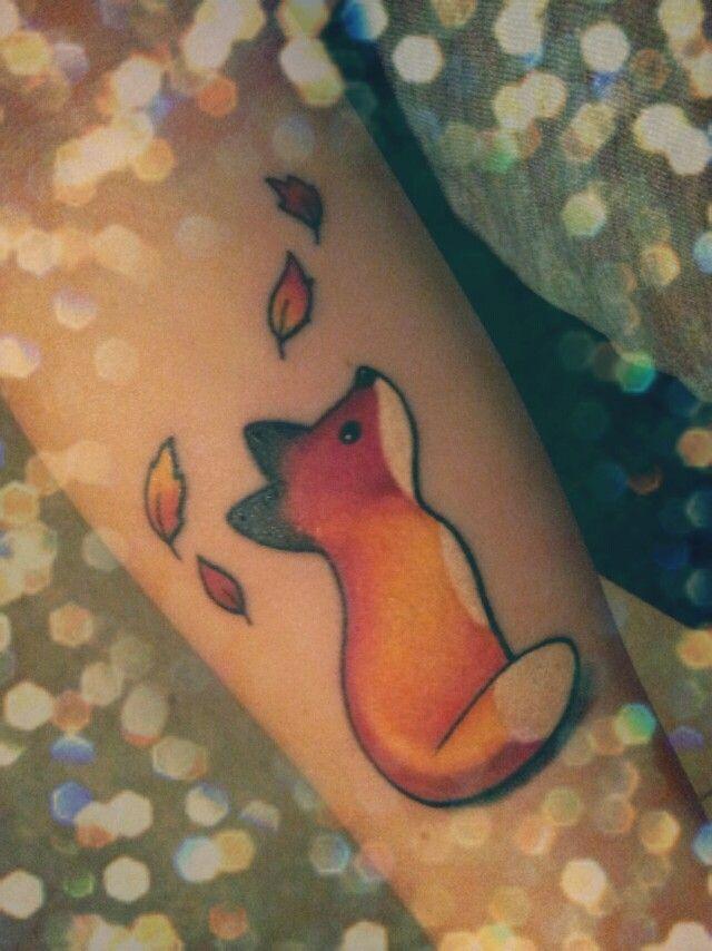 My fox, my guardian! #tattoo #fox #ink #arm #guardian