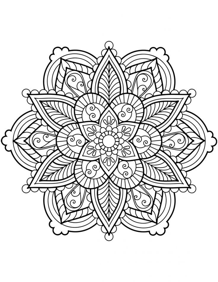 Pages De Coloriage Mandala De Fleurs Malvorlagen Blumen Mandala Malvorlagen Malvorlagen