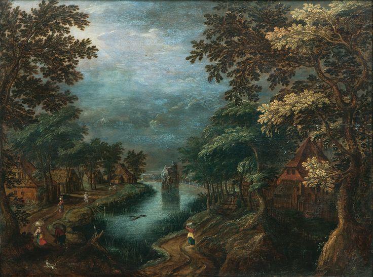 Gillis Van Coninxloo: Village By A River