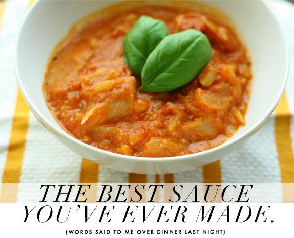 tomato, parmesan, fennel sauce | Delish | Pinterest