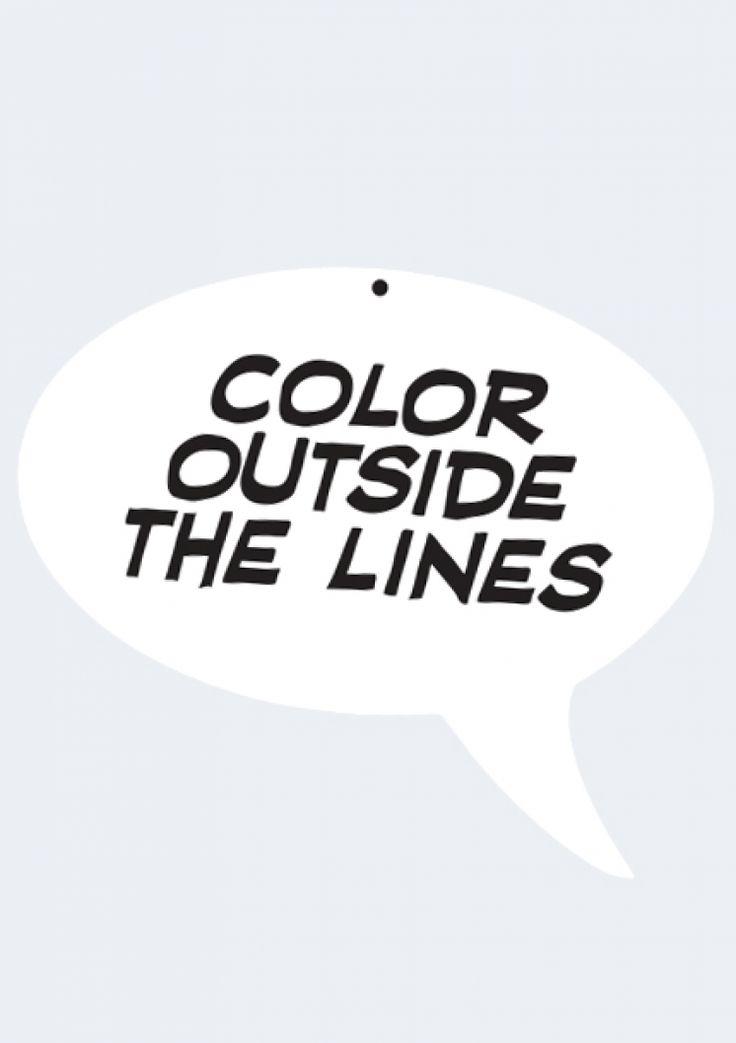 Color Outside the Lines acrylic wall art