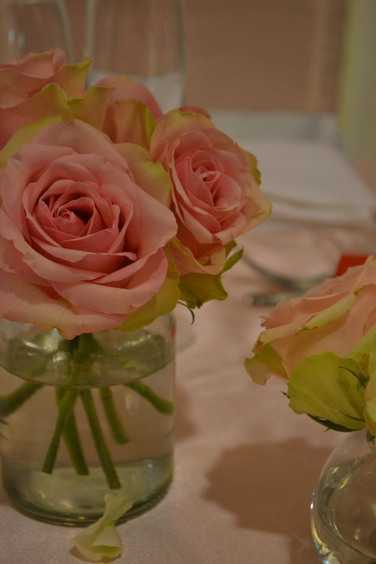 Bridal table pink rose detail. Styled by Greenstone Events.