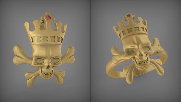 Череп. Подвеска и кольцо. Skull. Pendant and Ring. Rhinoceros tutorial. ...