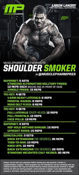 MUSCLE GAINS: Shoulder