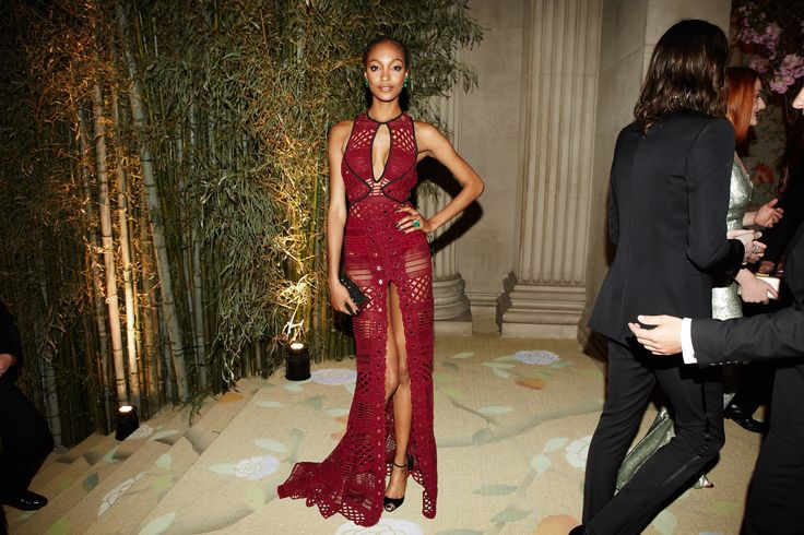 Jourdan Dunn in Burberry at the Met Gala 2015