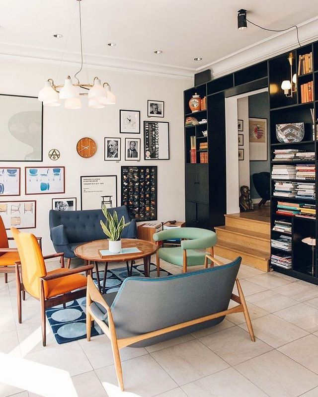 Eclectic MidCentury Modern Vibes #pinterest #interiordesign #homegoals | Luxury Living Room, House Interior, Retro Home Decor