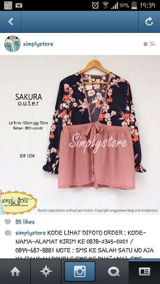 Sakura outer by simplystore