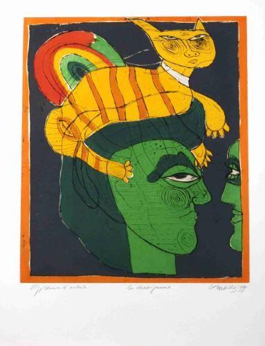 'Le chat jaune' van Corneille