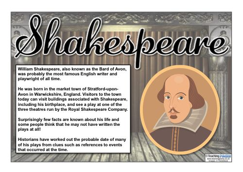 Use this Shakespeare mini pack of resources to teach your children about William Shakespeare's life, work and achievements. This includes a full PDF / Powerpoint topic guide, a high quality image pack, a timeline and much more!