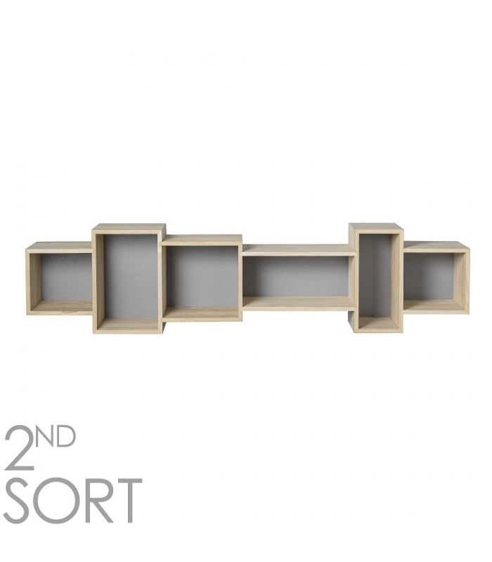 Estanterias Cubo gris estilo nordico para dormitorio - 76,99