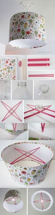 DIY Lampshade - view more crafts HERE