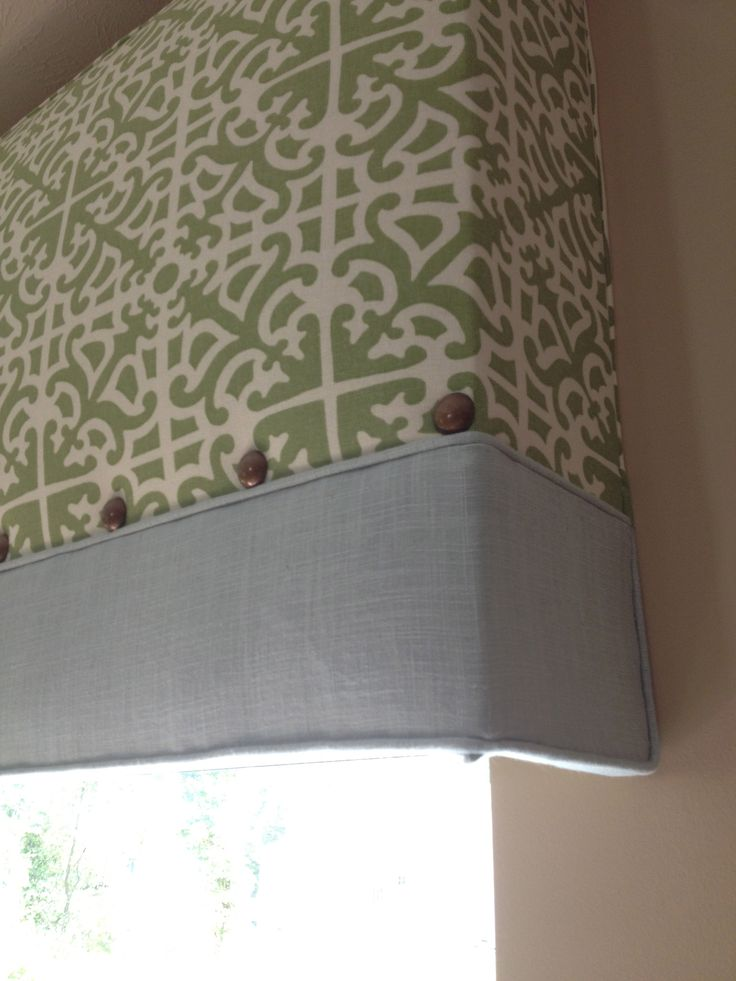 Diy Cornice Fabric And Buttons From Joanns Lumber From