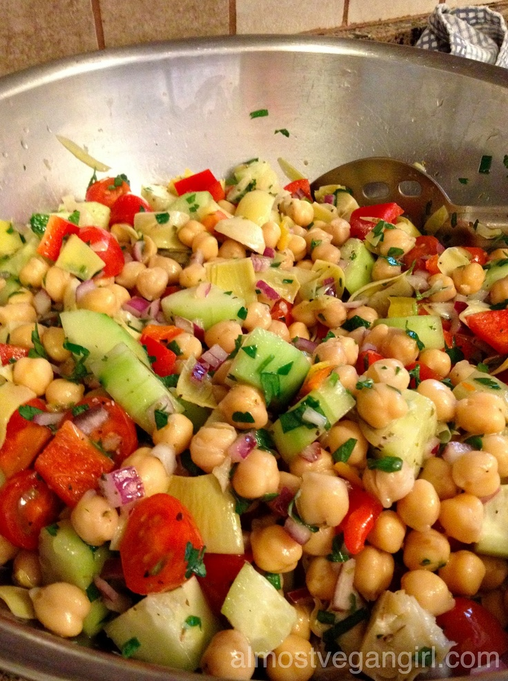 Mediterranean Chickpea Salad | Food I want to make | Pinterest