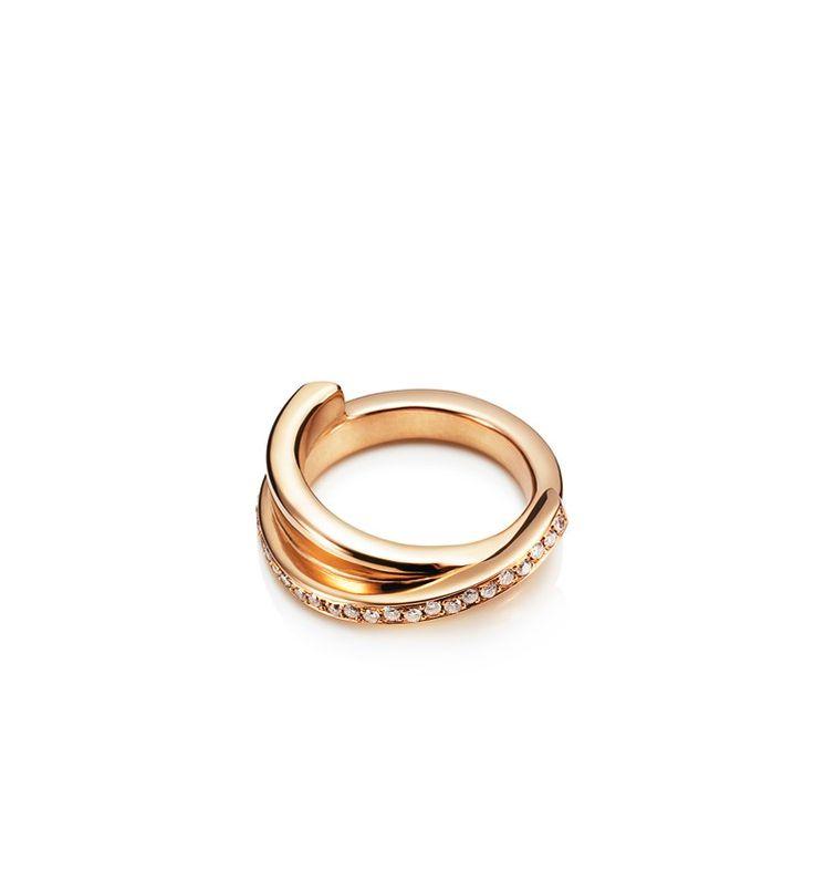 Pencez Star Ring - Guld med diamanter - Ringar - Efva Attling