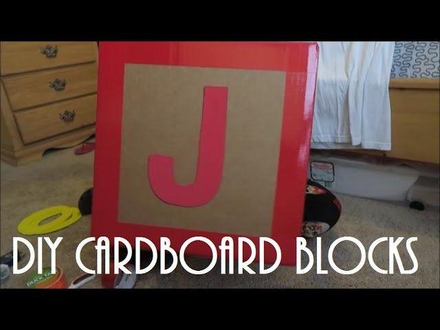 TOY STORY BIRTHDAY PARTY SERIES | DIY CARDBOARD BLOCKS