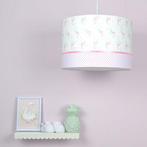 flamingo lamp, roze meisjeskamer lamp met flamingo's erop. #roze #flamingo #wit #shelfie