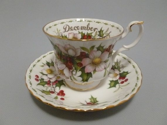Royal Albert Flower Of The Month Christmas by Tracyloustreasures, $26.95