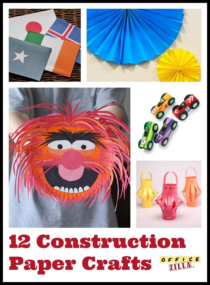12 Fun Construction Paper Crafts http://wp.me/p2Qhap-1IY #DIY #office #work