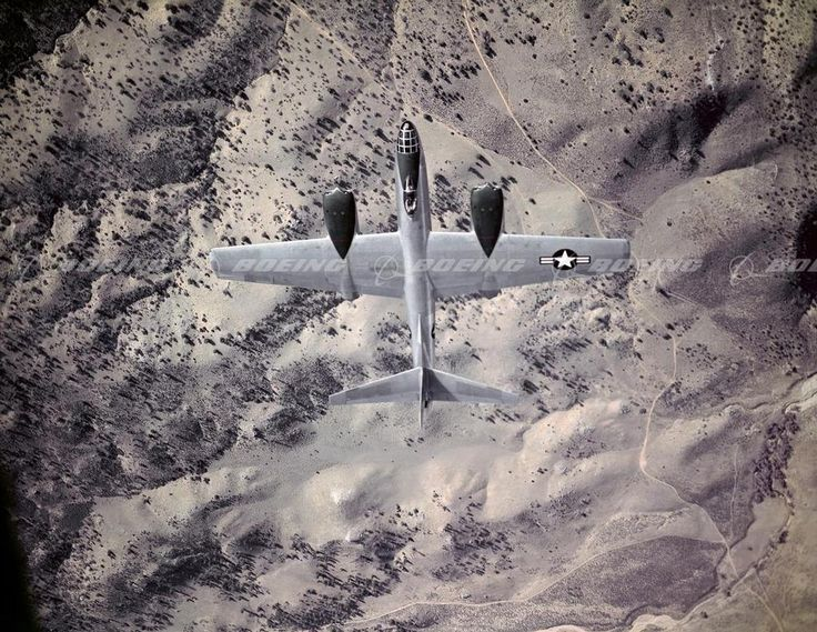 B-45 Tornado Jet Bomber in Flight over Desert