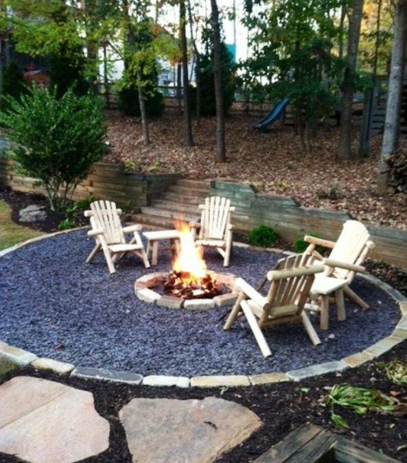 Diy Gravel Patio Elegant Fire Pit Ideas Our Camping Adventure Begins Backyard