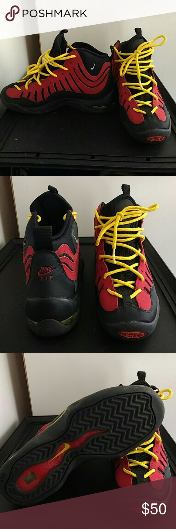 Nike Rodman Worms Nike sneakers. Dennis Rodmans. Black, red and yellow. Youth 5, women's 7/7.5. Nike Shoes