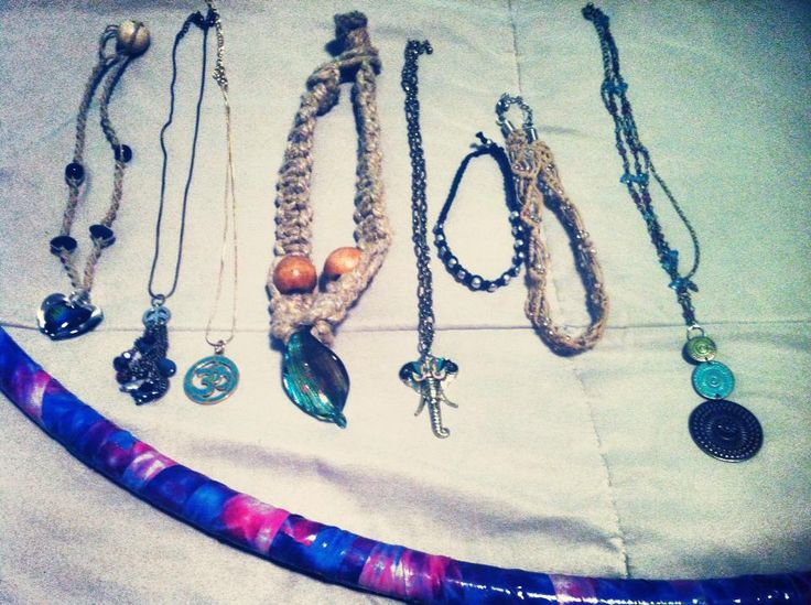 Hand crafted jewelry and homemade hula hoops for sale! by this 'pinner' right here! I'll ship if needed!