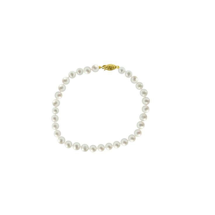 Βραχιόλι με λευκά μαργαριτάρια - G220111
