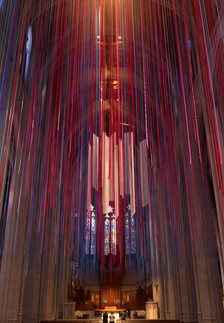 graced with light ribbon installation grace cathedral anne