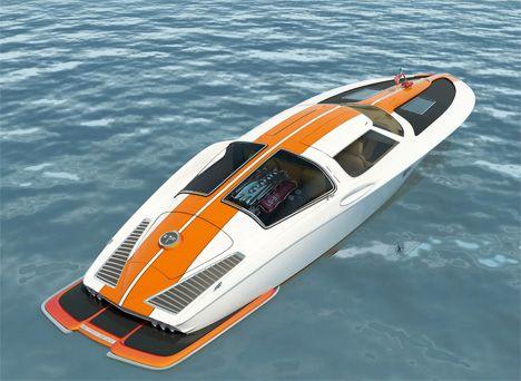 Le bateau hors-bord au look de Corvette