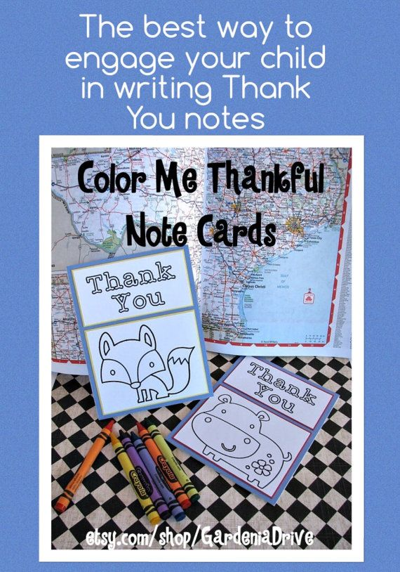 Color Me Thankful Note Cards by GardeniaDrive on Etsy