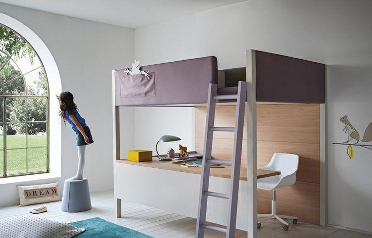 #nidi #Collezione #Soft Una camera piena di amici, fatta per fare magie e sogni soffici. Con un letto a soppalco per dormire con la testa tra le nuvole.