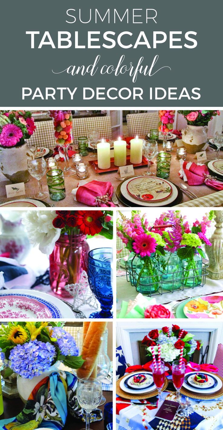 Elegant Summer Party Decorations | Summer Tablescapes With DIY Flower  Arrangements | Rustic Summer Table Decorations