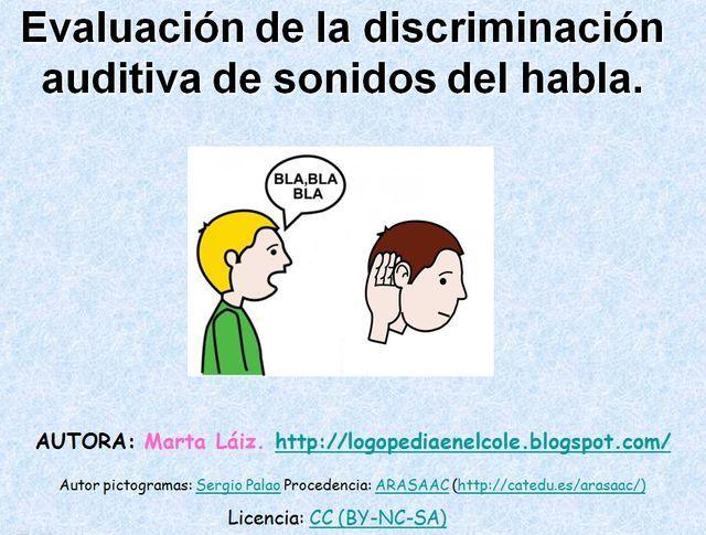 Evaluación de la discriminación auditiva de los sonidos del habla