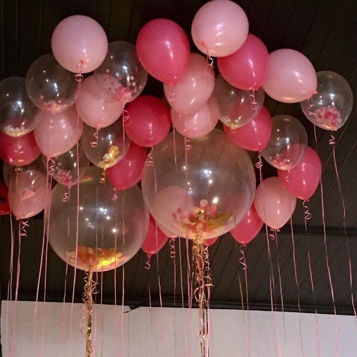 80 ideias de decoraç u00e3o com balões que deixaram as festas incríveis JV Decoraç u00e3o com balões  -> Decoração De Festa Com Balões No Teto