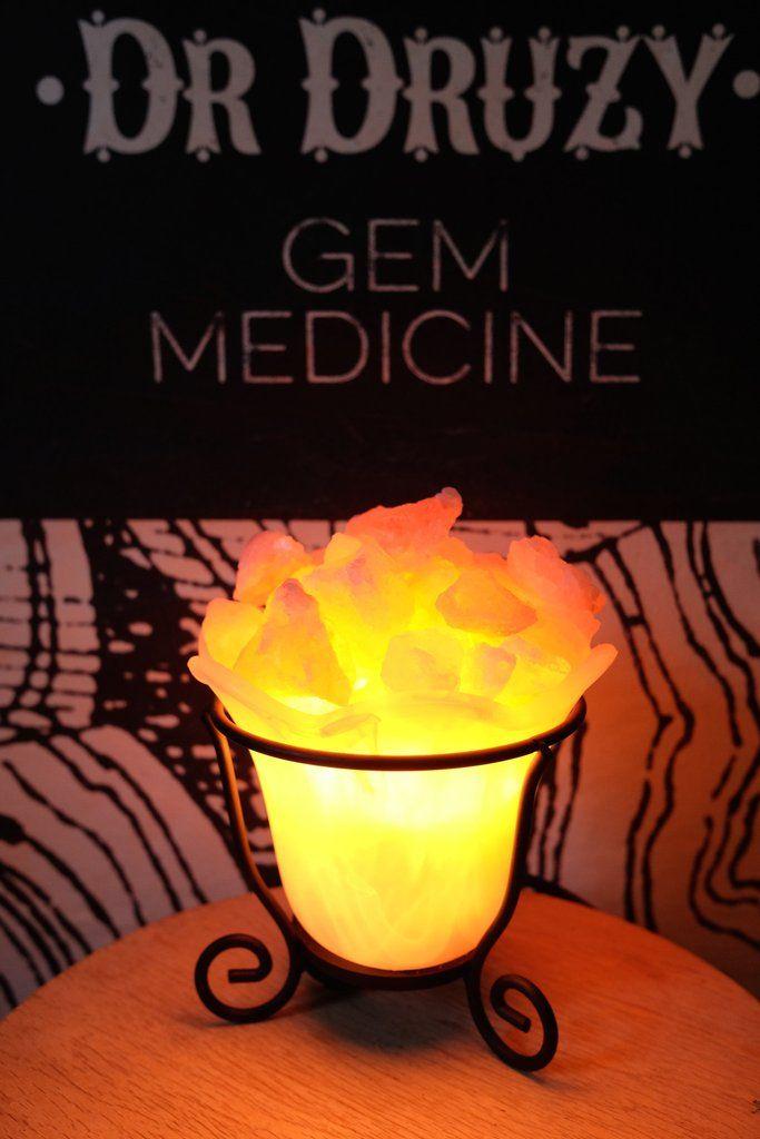 Himalayan Crystal Salt Lamp Tulip Bowl