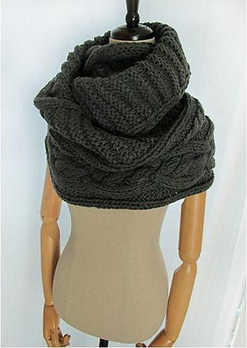 Ravelry: Keiko - infinity scarf, snood, cowl, bulky, chunky pattern by Mary Davids