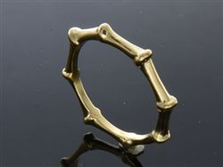 .925 Sterling silver knuckle gold plated band